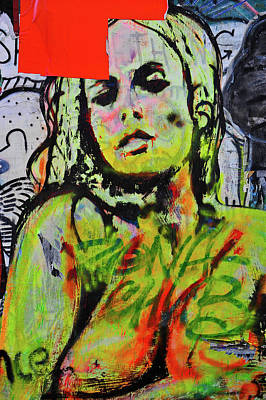 Photograph - Graffiti Nude by Harry Spitz