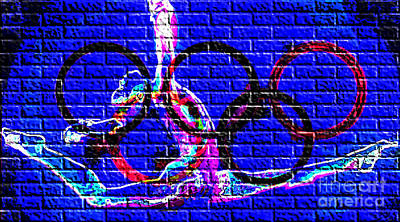 Digital Art - Graffiti On The Wall by Alexandra Jordankova