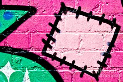 Graffiti Patch Closeup Art Print