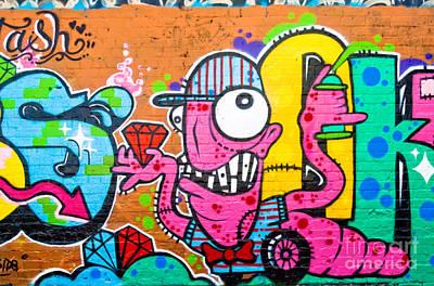 Graffiti Spray-worm Art Print by Yurix Sardinelly