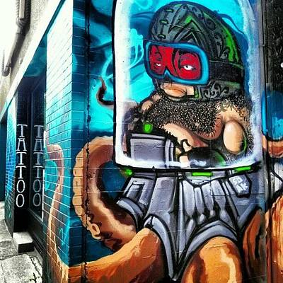 Octopus Wall Art - Photograph - #graffiti #streetart #art #tattoo by Hayley Piche