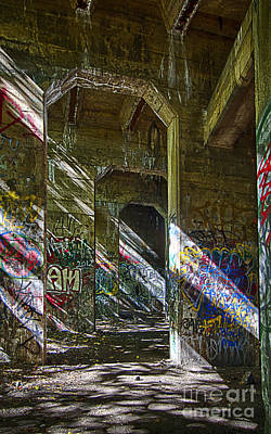 Print featuring the photograph Graffiti Underground by Vicki DeVico