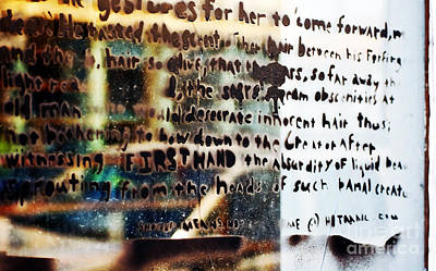 Photograph - Graffiti Words On Glass by Kathleen K Parker