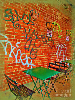 Grafitti Dining Art Print by Joan  Minchak