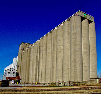 Photograph - Grain Bins by Debbie Portwood