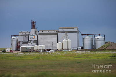 Photograph - Grain Elevator by Donna Munro