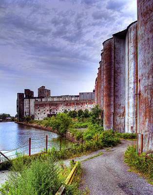 Photograph - Grain Silos In Summer by Tammy Wetzel