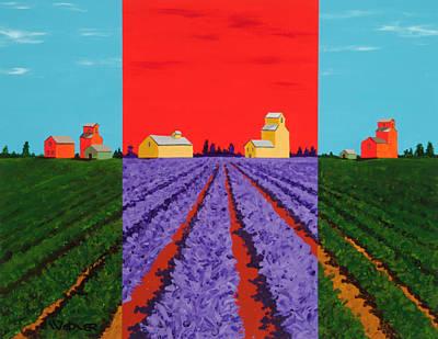 Painting - Grain Storage by Randall Weidner