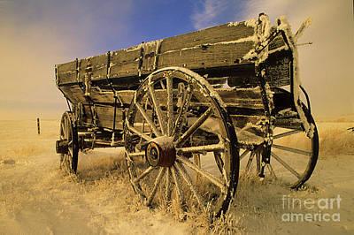 Photograph - Grain Wagon by Bob Christopher