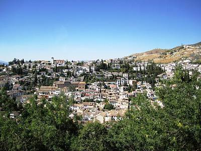 Photograph - Granada Gorgeous Hillside View Of Homes Spain by John Shiron