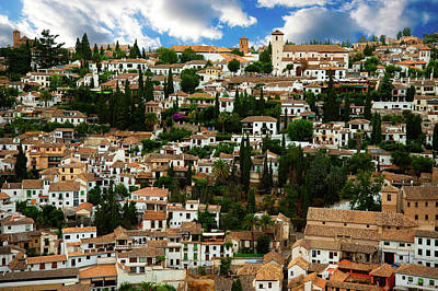 Photograph - Granada Hillside  by Harry Spitz