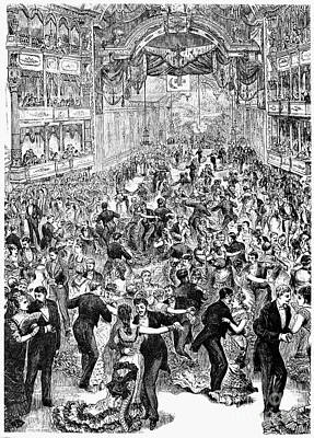 Ball Gown Photograph - Grand Ball, New York, 1877 by Granger