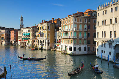 Grand Canal From Rialto Bridge, Venice Art Print by Chris Hepburn