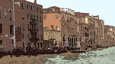 Sienna Italy Digital Art - Grand Canal Venice I by Mindy Newman