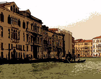Sienna Italy Digital Art - Grand Canal Venice II by Mindy Newman