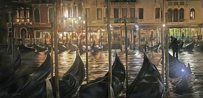 Romantic Digital Art - Grand Canal Venice by Ron Morecraft
