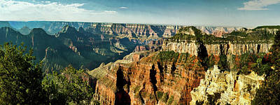 Grandview Digital Art - Grand Canyon Angel Panorama by Bob and Nadine Johnston