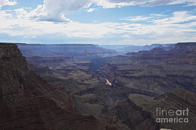 Clouds Over Canyon Photograph - Grand Canyon As Seen From Lipan Point by Terry Moore
