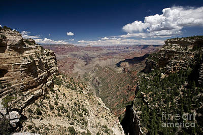 Clouds Over Canyon Photograph - Grand Canyon As Seen From Pipe Creek by Terry Moore