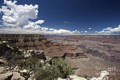 Clouds Over Canyon Photograph - Grand Canyon As Seen From Yavapai Point by Terry Moore