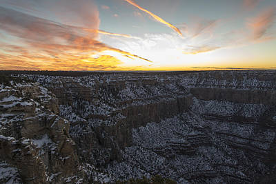 Clouds Over Canyon Photograph - Grand Canyon by Avinash Achar