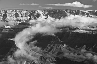 Grand Canyon Black And White Art Print