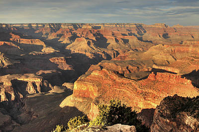 Clouds Over Canyon Photograph - Grand Canyon From Hopi Point by A. V. Ley