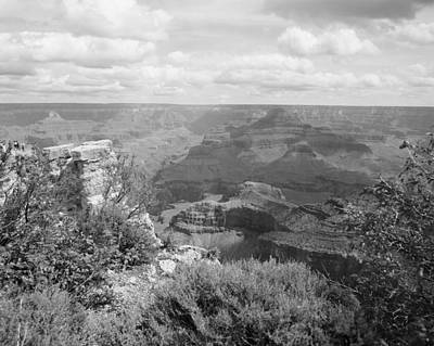 Photograph - Grand Canyon In Black And White by M K Miller