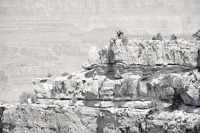 Photograph - Grand Canyon Overlook Bw by Julie Niemela