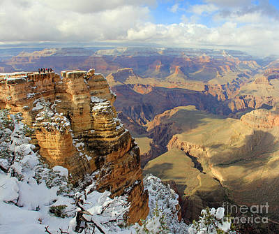 Wine Corks Royalty Free Images - Grand Canyon Overlook in Snow Royalty-Free Image by Jack Schultz