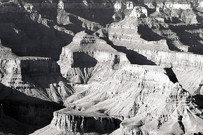 Photograph - Grand Canyon Shadows Bw by Julie Niemela