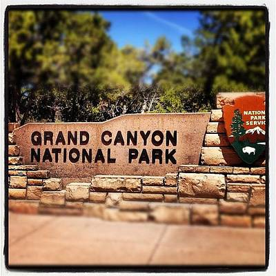 Color Contrast Wall Art - Photograph - Grand Canyon Sign by Isabel Poulin