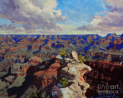National Parks Painting - Grand Canyon South Rim by Gary Kim