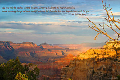 Photograph - Grand Canyon Splendor - With Quote by Heidi Smith