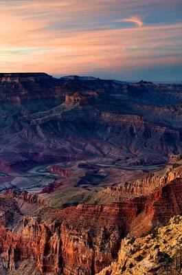 Grand Canyon Sunset Art Print by C Thomas Willard
