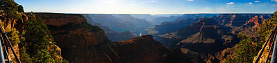Grand Canyon Sunset Panorama Art Print by David Waldo