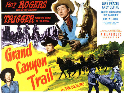 Grand Canyon Trail, From Left In Color Art Print