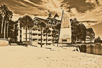 Photograph - Grand Floridian Resort Beach Walt Disney World Prints Rustic by Shawn O'Brien