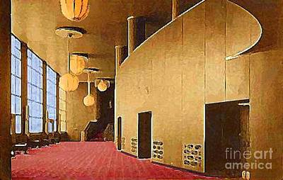 Grand Foyer In The Center Theatre In New York City 1940 Art Print by Dwight Goss