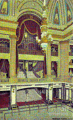 Painting - Grand Foyer Of The Chicago Theatre In Chicago Il by Dwight Goss