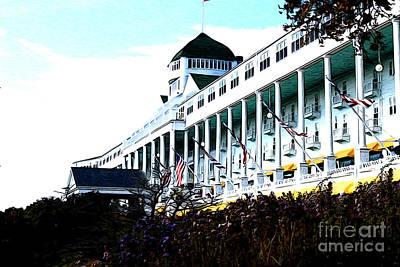 Grand Hotel Mackinac Island Art Print by Anne Raczkowski