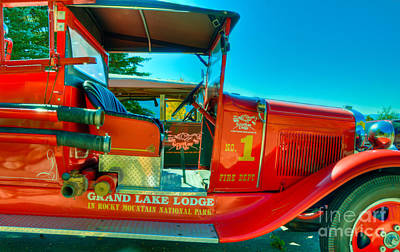Photograph - Grand Lake Classic Fire Engine by Harry Strharsky