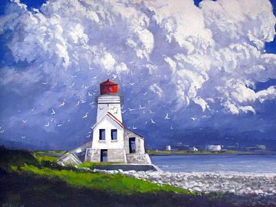 Painting - Grand Manan Lighthouse by Milan Melicharek