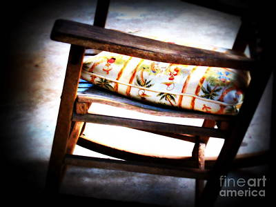 Rocking Chairs Photograph - Grand-pa Left by Susanne Van Hulst