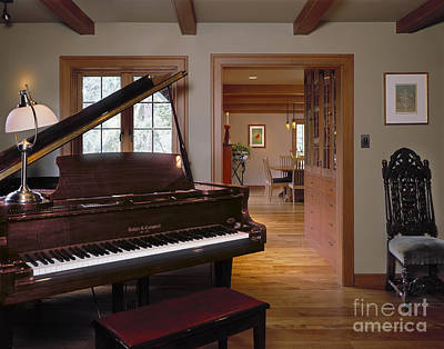 Grand Piano In A Home Art Print by Robert Pisano