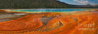 Scenery Photograph - Grand Prismatic Spring by Charles Kozierok