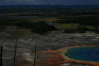 Photograph - Grand Prismatic Spring Yellowstone National Park by Benjamin Dahl