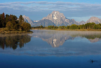 Grand Teton Morning Art Print by Johan Elzenga