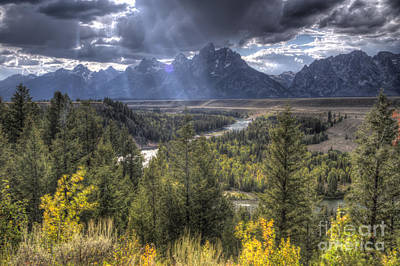 Grand Teton National Park And Snake River Art Print by Dustin K Ryan