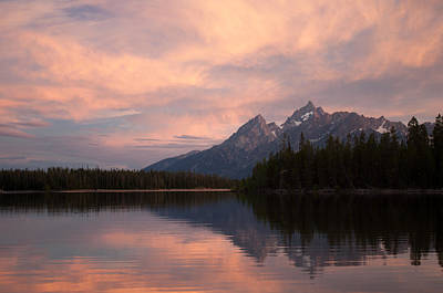 Grand Teton Sunset Art Print